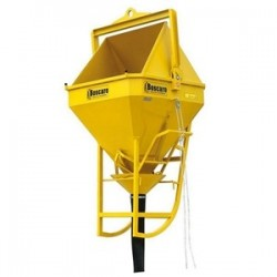 BC High quality concrete skip with rubber hose BOSCARO
