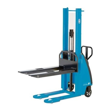 EHH PSE Manual drive stacker with electric-hydraulic lift PFAFF silberblau