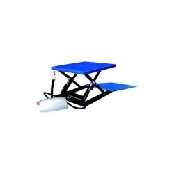 HTF-G SILVERLINE Plochý nožnicový zdvíhací stôl PFAF silberblau