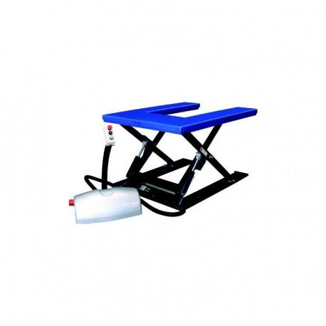 HTF-U SILVERLINE Rovný nožnicový dvíhací stôl model PFAFF silberblau