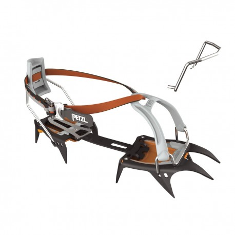 T03A LLU / IRVIS FLEXLOCK 10-point crampons for ski touring and glacier travel PETZL