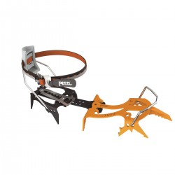T22A LLF / DART Ultra-light mono-point crampons for ice climbing and dry tooling, with LEVERLOCK FIL bindings  PETZL