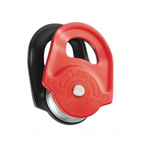 P50A / RESCUE  High-strength pulley with swinging side plates PETZL