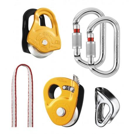 K25 SC3 / KIT SECOURS CREVASSE Rettungskit für die Einrichtung eines Flaschenzugs und zur Selbstrettung bei der Spaltenbergung P