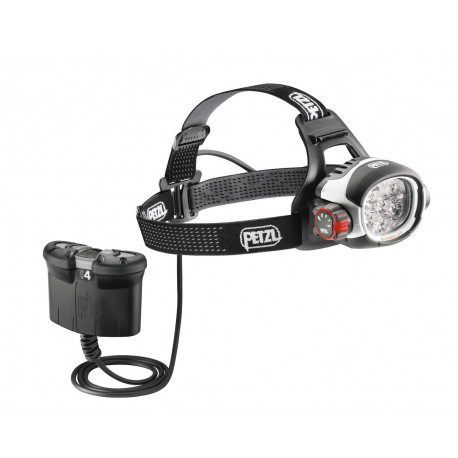 E52 B / ULTRA® RUSH BELT  Extrem leistungsstarke Stirnlampe mit CONSTANT LIGHTING Technologie und separatem ACCU 4 PETZL