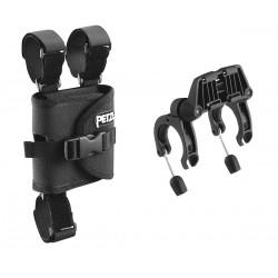 PETZL ULTRA  Befestigungsplatten zum Anbringen einer ULTRA-Stirnlampe an einem Fahrradlenker
