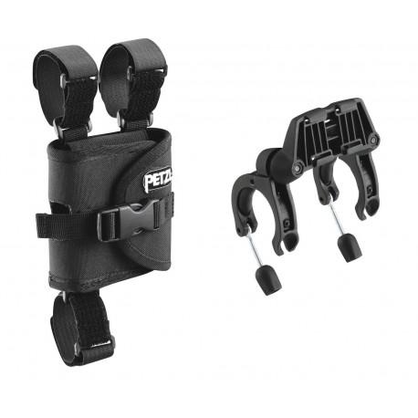 E55930 / ULTRA®  Befestigungsplatten zum Anbringen einer ULTRA-Stirnlampe an einem Fahrradlenker PETZL
