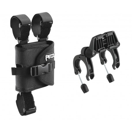 E55930 / ULTRA®  Plates for mounting ULTRA headlamps on bicycle handlebars PETZL