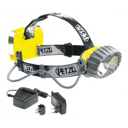 E72 AC / DUO LED 14 ACCU Headlamp with halogen/14 LEDs adn rechargeable battery PETZL