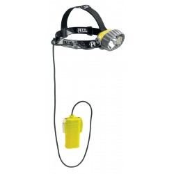 E76 P / DUOBELT LED 14  Headlamp with halogen/14 LEDs and remote battery pack PETZL