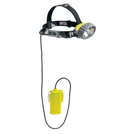 E76 P / DUOBELT LED 14 Vodotesná čelovka so 14 diódami a oddeleným puzdrom na batérie PETZL