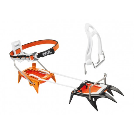 T02A LLU / IRVIS HYBRID  Hybrid crampons, with steel front piece and aluminum heel piece PETZL