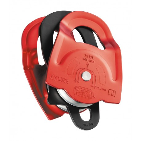 P65A / TWIN  High strength, very high efficiency double Prusik pulley PETZL