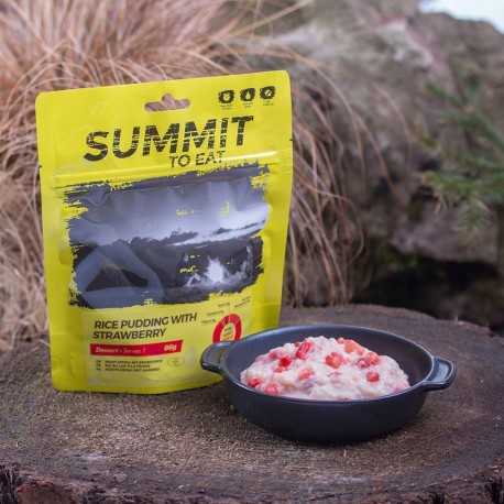 810100 / SUMMIT TO EAT Rice Pudding with Strawberry