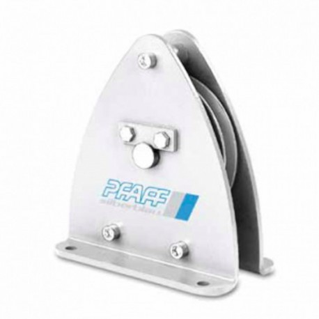 Sheave block for rope guidance, equipped with ball bearings PFAFF silberblau