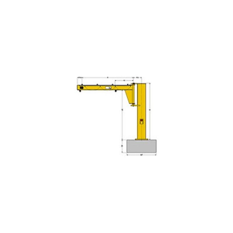 Jib Pole Crane : Pfsp floor mounted jib crane yale