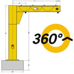 YALE PFM Floor-mounted jib crane