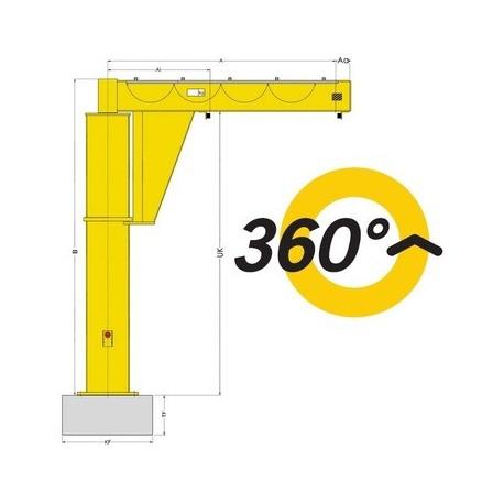 PFP Floor-mounted jib crane YALE