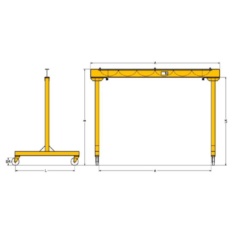 Td Moveable Gantry Crane Yale