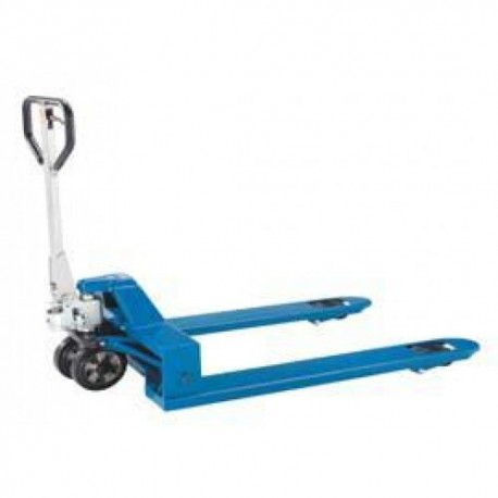 SILVERLINE  Hand pallet truck with a smaller or a wider loading width PFAFF silberblau