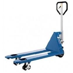 PROLINE ručný paletový vozík s  krátkymi vidlicami PFAF silberblau