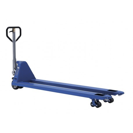 PROLINE Hand pallet truck with extended forks PFAFF silberblau
