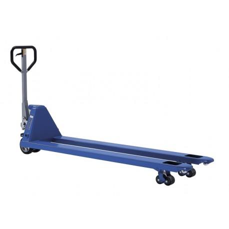 PROLINE ručný paletový vozík s dlhými vidlicami PFAFF silberblau