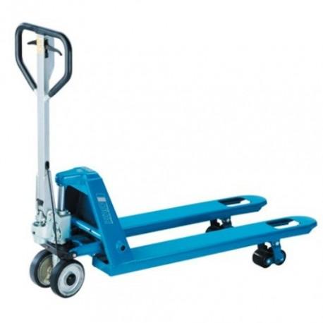 HU 25 FBTP PROLINE ručný paletový vozík s prevádzkovou a parkovacou brzdou PFAFF silberblau