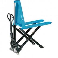 HU  HS 10A nožnicový paletizačný vozík s ručným hydraulickým zdvihom PFAFF silberblau