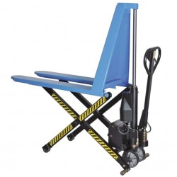 HU ES 10A Scissor pallet truck with electric-hydraulic lift PFAFF silberblau