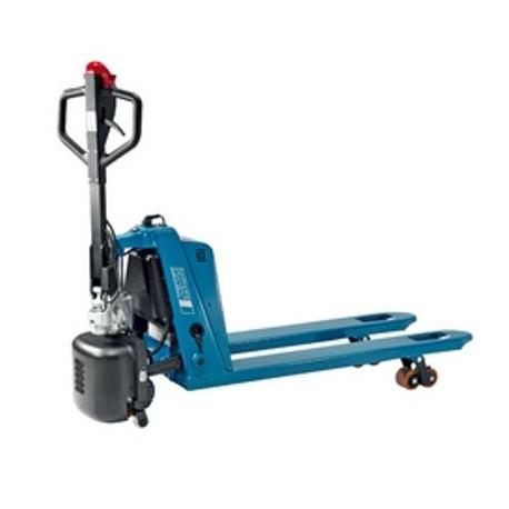 JOKER CLASSIC PROLINE Handgabelhubwagen mit Elektroantrieb PFAFF silberblau