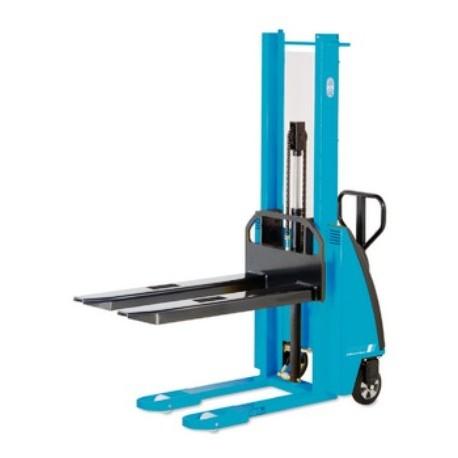 EHH PS  Manual drive stacker with electric-hydraulic lift PFAFF silberblau