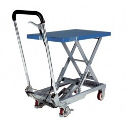 HX Scissor elevating platform, mobile with single scissor PFAFF silberblau