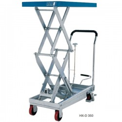 HX-D Scissor elevating platform, mobile with double scissor PFAFF silberblau