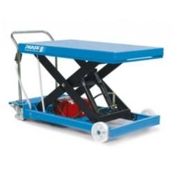 HF-SE Scissor elevating platform, mobile with single scissor and -electric hydraulic system PFAFF silberblau