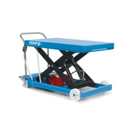 HF-SE Plattformwagen, verfahrbar mit Einfachschere und Elektrohydraulikaggregat PFAFF silberblau