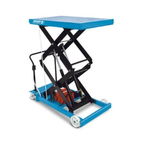 HF-DE Plattformwagen, verfahrbar mit Doppel-Vertikalschere und -Elektrohydraulikaggregat  PFAFF silberblau